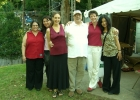 FivePlay with Phil Woods. From left, Jami Dauber, Noriko Ueda, me, Phil Woods, Sherrie Maricle, Tomoko Ohno.